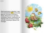 The Reluctant Catterpillar, a Meegenius kids' book application.
