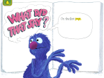 Monster at the End of this Book, a Sesame Street book